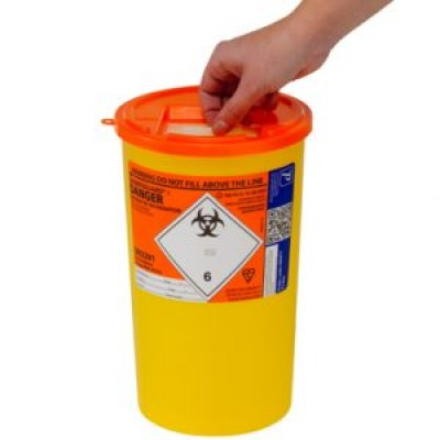 Sharps Container 5 Litre-Orange Lid