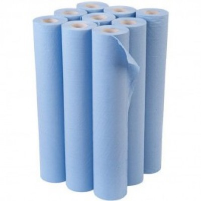 "Blue 20"" Medical Couch Rolls"